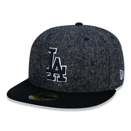 34b6489c8 Boné 5950 Los Angeles Dodgers MLB Aba Reta Chumbo New Era - Compre ...