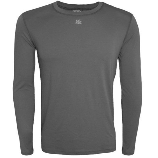 Camisa Térmica Infantil Fator Proteção Solar Uv50 5875 - Chumbo ... db62675f370c4