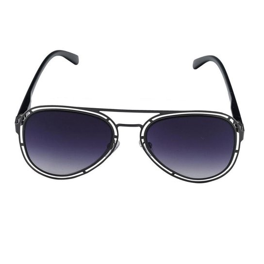 5cc07ecf2c3cf Óculos de Sol Khatto Aviador Gladiador Feminino - Chumbo - Compre ...