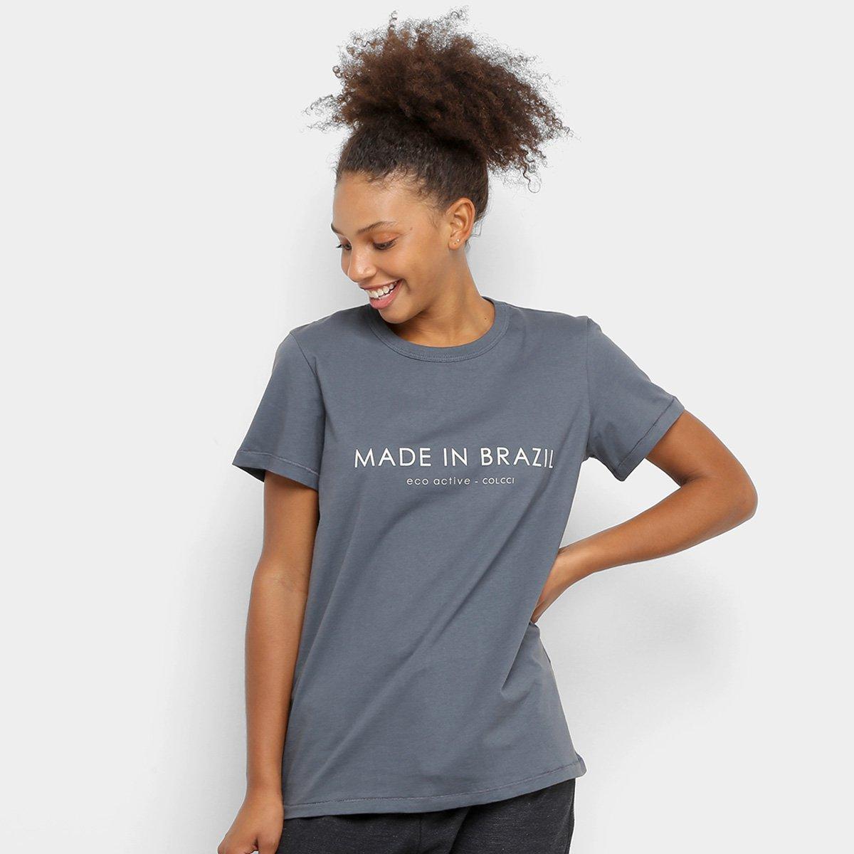 Camiseta Colcci Fitness Made In Brazil Feminina