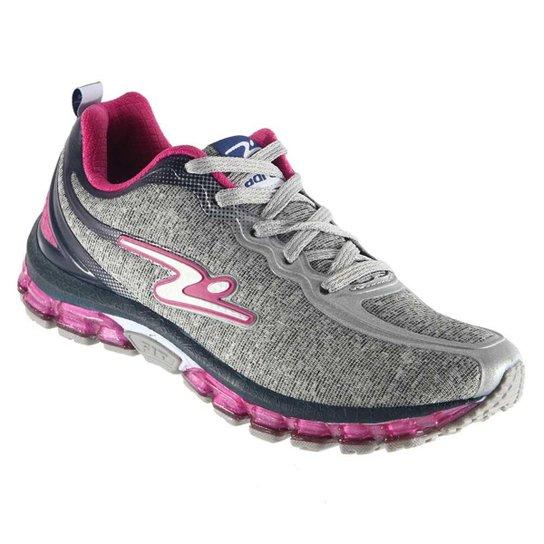 7a71fa29a1 Tênis Adrun Freak Feminino Caminhada Leve 75.04F - Cinza+Pink