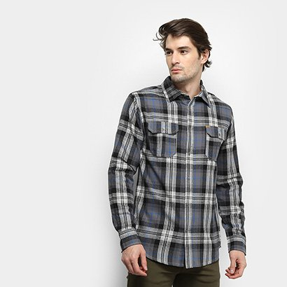 Camisa Gajang Xadrez Nash Roots Masculina