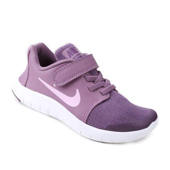 09f28cfa84 Tênis Infantil Nike Flex Contact 2 Feminino - Pink e Roxo - Compre ...
