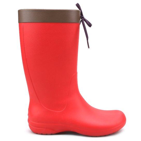 5c060aa76f Bota Crocs Freesail Rain Boot - Vermelho