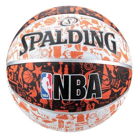 Bola de Basquete NBA Spalding Graffiti Tam 7 - Laranja - Compre ... 30c1b576c83d8