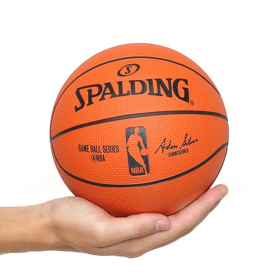 7f72c52a7 Mini Bola Basquete Spalding NBA Game Ball Réplica Outdoor Rubber Tam 3 -  Laranja