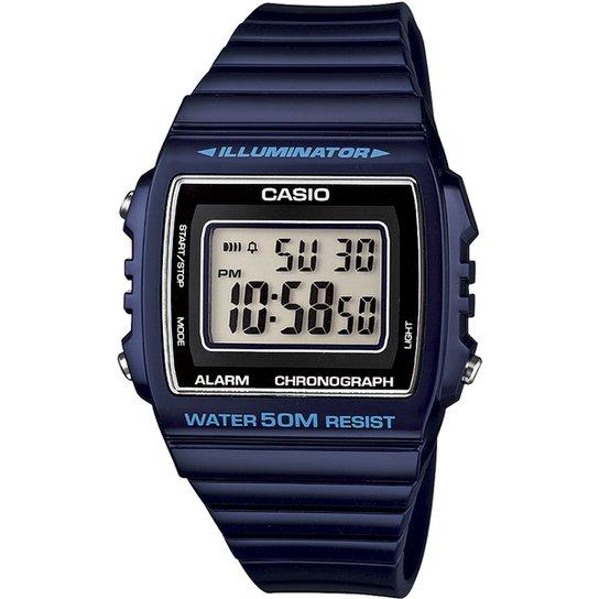 29163d61d83 Relógio Casio W-215H-4A - Azul Escuro - Compre Agora