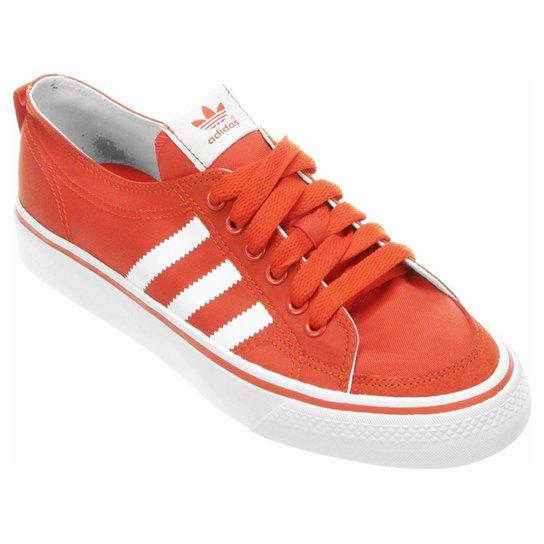 a2f785fa56d Tênis Adidas Nizza Low - Laranja+Branco
