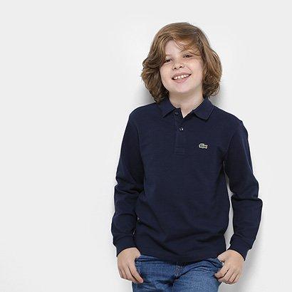 Camisa Polo Lacoste Piquet M/L Infantil