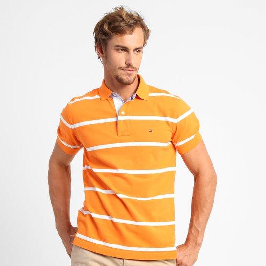 3a9329fefc952 Camisa Polo Tommy Hilfiger Piquet Listras - Compre Agora