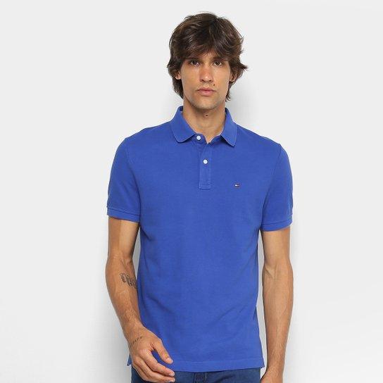 983d34815 Camisa Polo Tommy Hilfiger Básica Masculina - Azul Royal | Netshoes