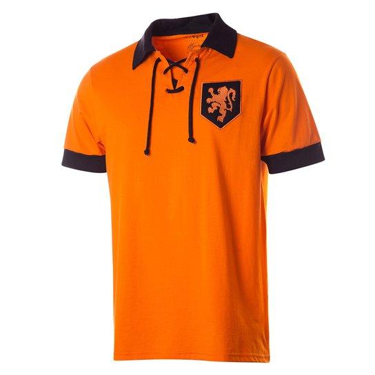 c6eca9c9d0 Camisa Polo Retrô Gol Réplica Seleção Holanda Torcedor - Compre ...