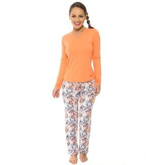 3af3c616c Pijama Feminino Recco Viscose 09122