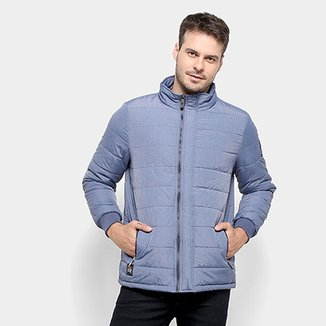 Jaqueta Puffer Red Bull Efeito Jeans Masculina