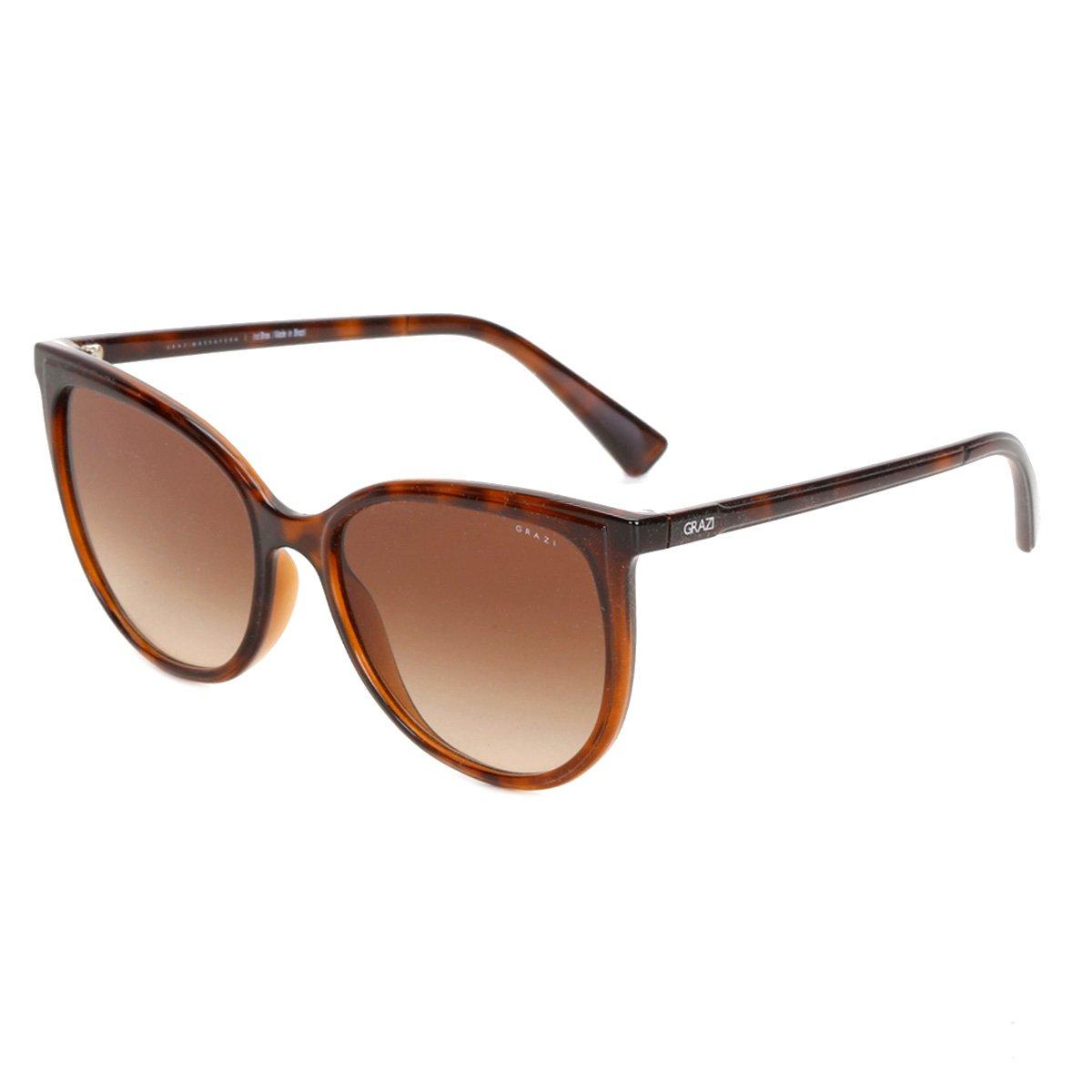 Óculos de Sol Grazi Havana Degradê Feminino