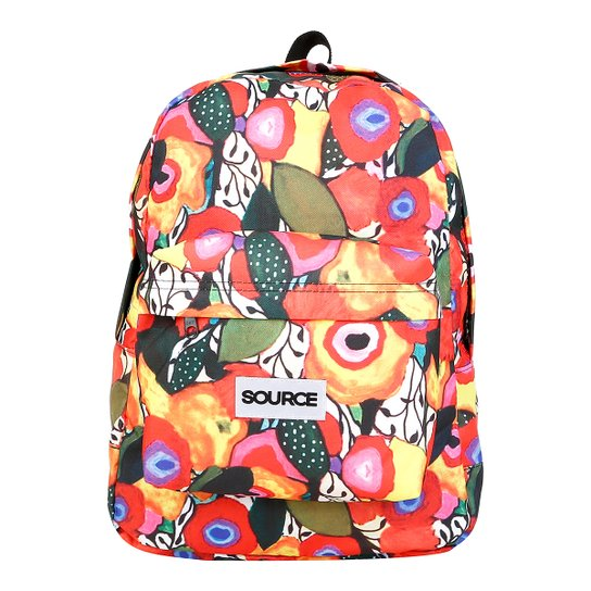 c44f693a3 Mochila Source Floral Zuppa - Laranja - Compre Agora | Netshoes