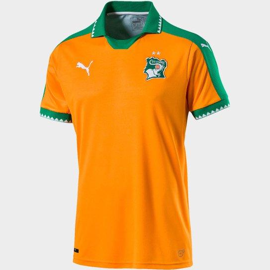 Camisa Seleção Costa do Marfim Home 16 17 s nº Torcedor Puma Masculina - 864a9149d9f4f