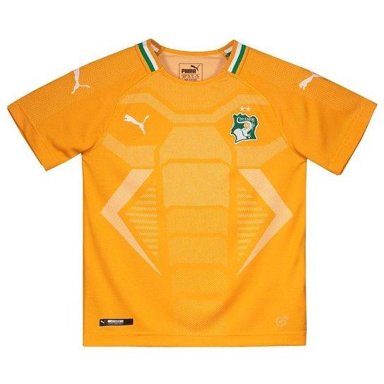 f637697e78 Camisa Puma Costa do Marfim Home 2018 Juvenil - Laranja - Compre ...