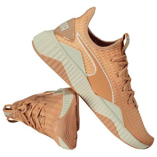 f2674d6e9fc Tênis Puma DEFY Feminino Coral - Laranja - Compre Agora