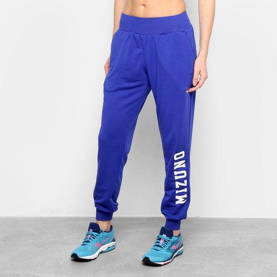 da2438171 Calça Moletom Mizuno Hoody Feminina - Azul Escuro - Compre Agora ...