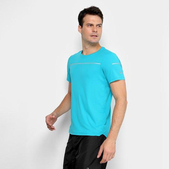 8c25c12d89bb3 Camiseta Asics Liteshow Ss Masculino - Verde água - Compre Agora ...