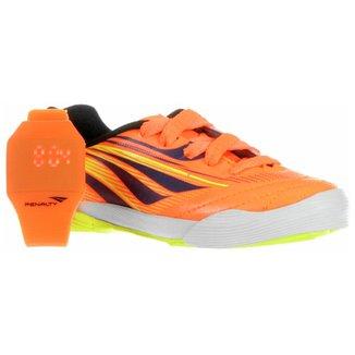 5041d97ae05a7 Kit Chuteira Penalty Futsal Juvenil + Relógio Led Digital Dia das Crianças