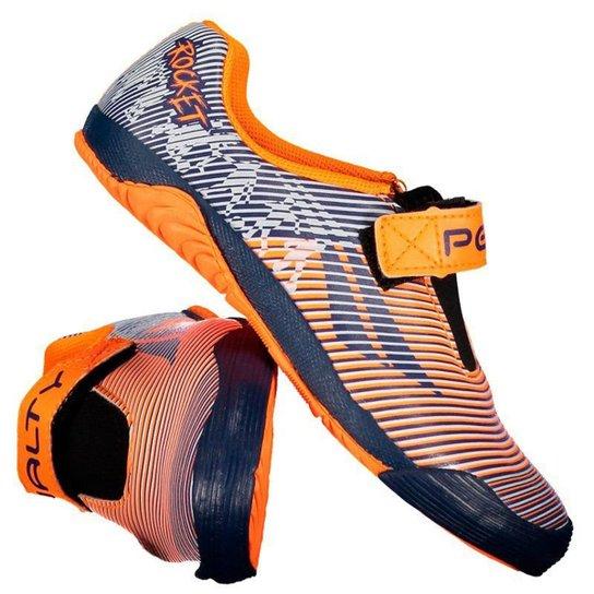 ec1074b050 Chuteira Futsal Infantil Penalty ATF Rocket Velcro IX - Laranja ...