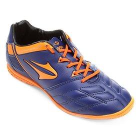 4c65a58792 Chuteira Futsal Topper Titanium 4 Masculina - Preto e Laranja