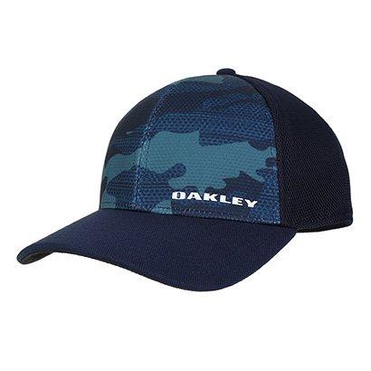 Boné Oakley Aba Curva Silicone Bark Trucker Print 2.0 Masculino
