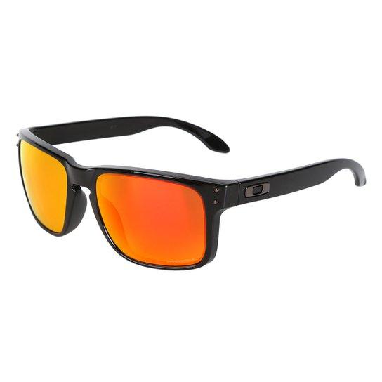 dcaa7eedbb5f5 Óculos de Sol Oakley Polarized Masculino - Laranja - Compre Agora ...