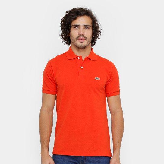 b2f37d320b2 Camisa Polo Lacoste Mescla Masculina - Laranja - Compre Agora