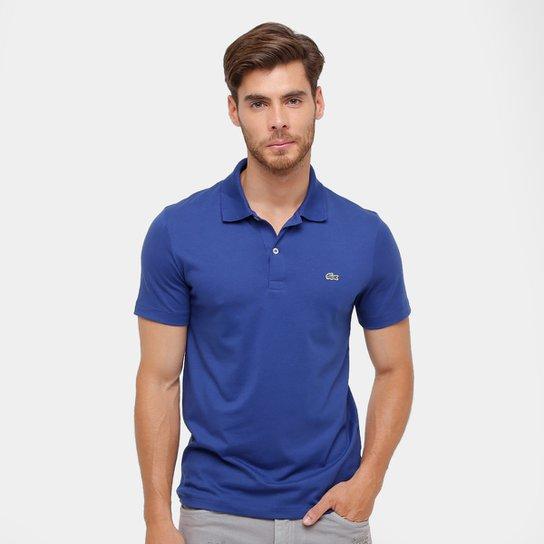 94d59b9218433 Camisa Polo Lacoste Malha Original Fit Masculina - Azul Escuro ...