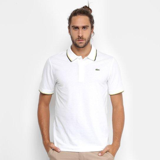7ef5d27d3b1 Camisa Polo Lacoste Bordada Masculina - Branco - Compre Agora