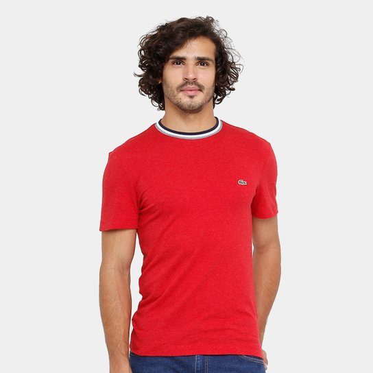 Camiseta Lacoste Regular Fit Frisos Croco Masculina - Compre Agora ... ff31d7a085