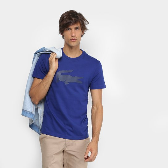 819c9800e7447 Camiseta Lacoste Crocodilo Emborrachado Masculina - Compre Agora ...