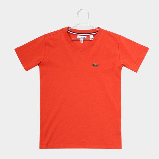 Camiseta Infantil Lacoste Masculina - Laranja - Compre Agora  e3ccf4644831c