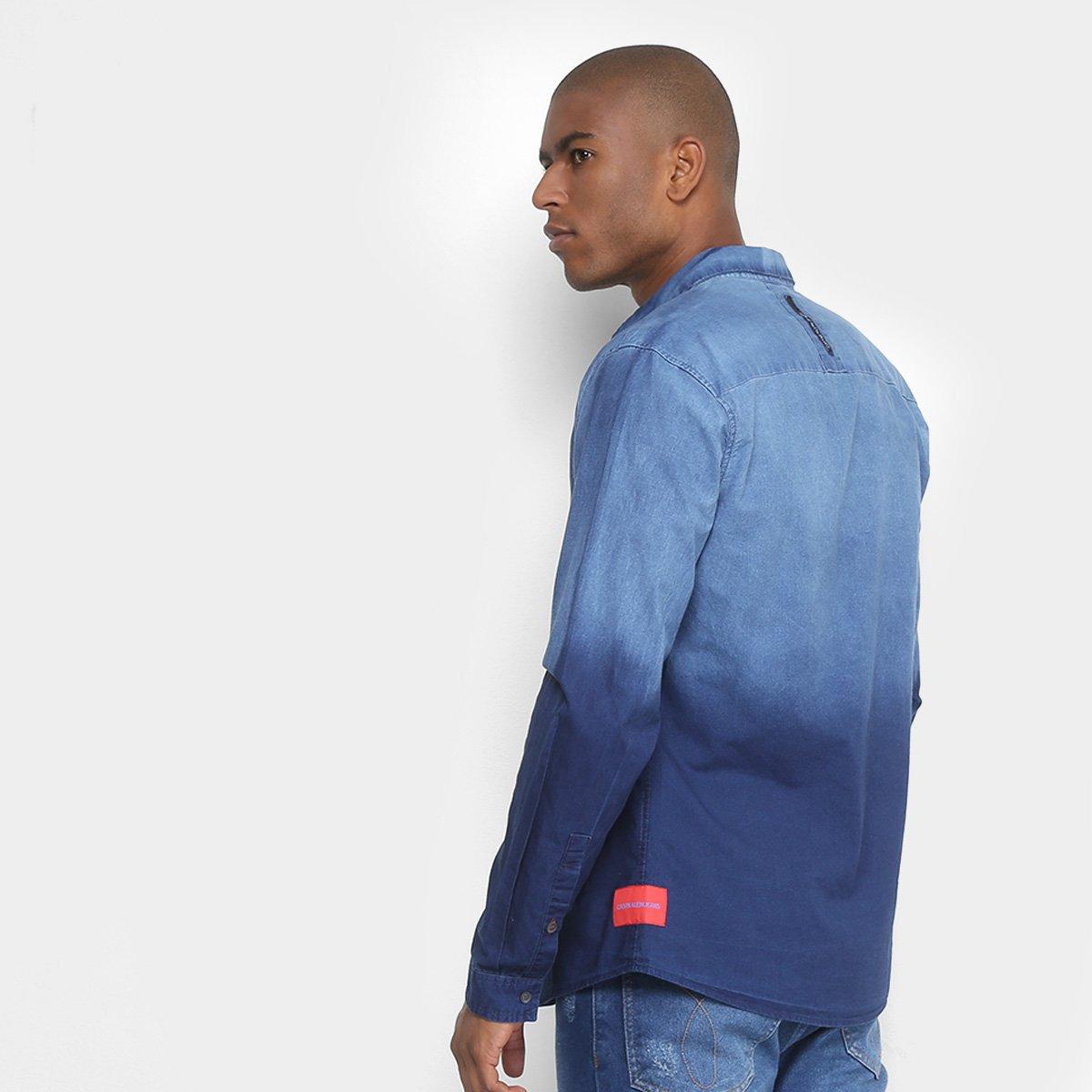 435908c68c Foto 2 - Camisa Jeans Calvin Klein Degrade Masculina