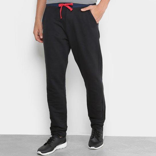 Calça De Moletom Jogger Calvin Klein Contraste Masculina - Preto ... ad5e745b3a