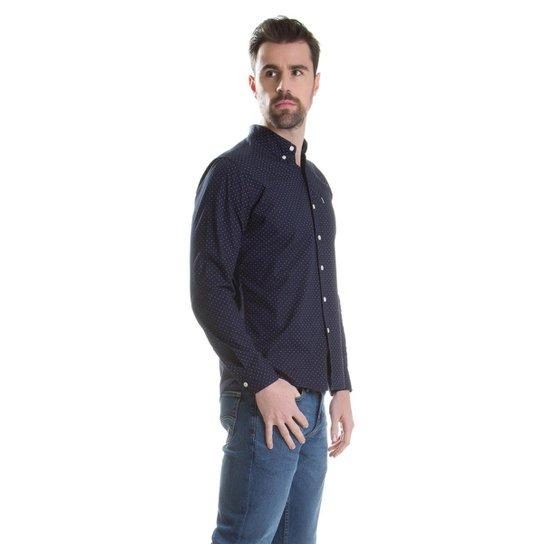cb8d8cc07e ... Camisa Levis Classic One Pocket - Azul Escuro ...