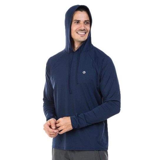 ef07474400 Camiseta c  Capuz e Encaixe para Dedo Extreme UV Ice - Azul Escuro ...