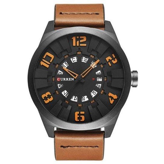 552f3f57314 Relógio Curren Analógico - Laranja - Compre Agora