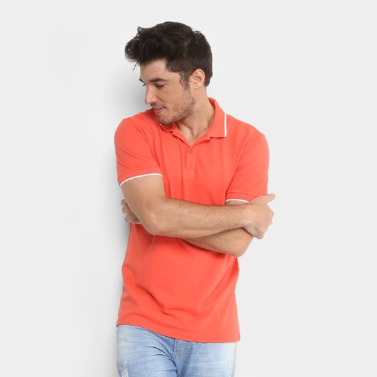 Camisa Polo Forum Piquet Masculina - Laranja - Compre Agora  e25fee44eb1fd