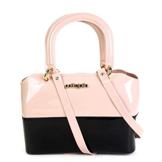 6f64c4eb7 Bolsa Petite Jolie Handbag Zip Feminina - Preto+Nude