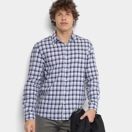 f5ef862b73 Camisa Xadrez Ellus Masculina - Azul Escuro