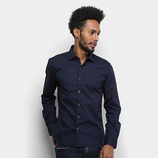 9e4457e18a Camisa Manga Longa Ellus Tricoline Slim Masculina