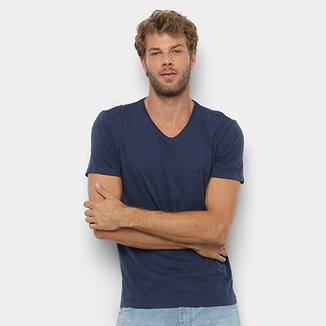c9239c99a1 Camiseta Ellus Co Fine Gola V Masculina