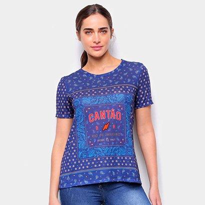 Camiseta T-Shirt Cantão Classic Bandana Tee Feminina