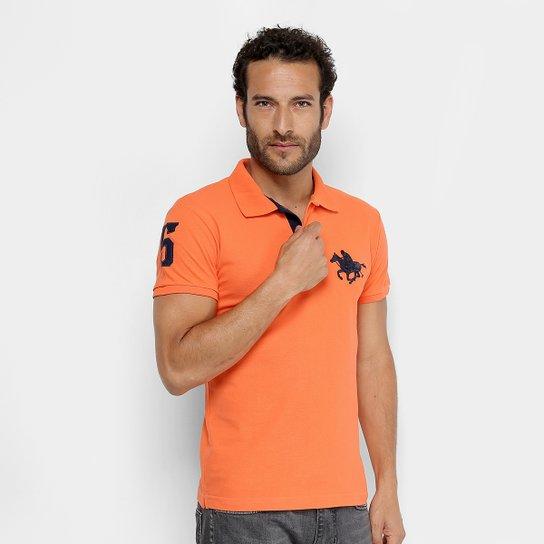 75b7b143e8c7b Camisa Polo RG 518 Piquet Básica Masculina - Laranja - Compre Agora ...