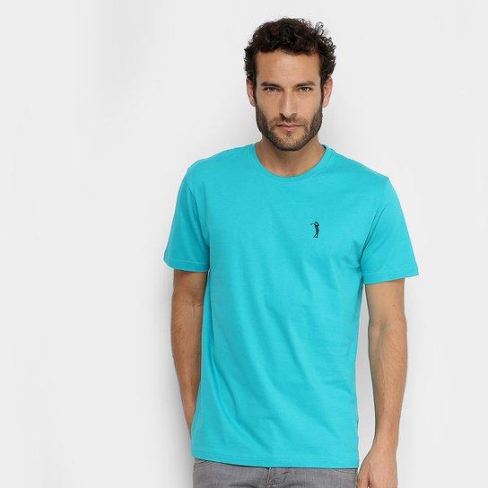 Camiseta Aleatory Lisa Masculina - Azul Piscina - Compre Agora ... 13c17b68c5f