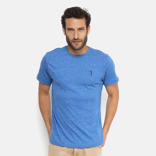Camiseta Aleatory Mescla Masculina - Azul Escuro - Compre Agora ... ef7273ce4cd3f